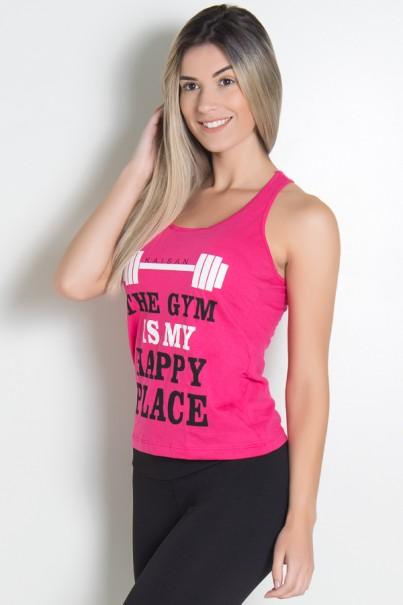 KS-F318-004_Camiseta_de_Malha_Nadador_The_gym_is_my_happy_place_Rosa_Pink__Ref:_KS-F318-004
