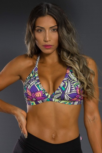 K2566-C_Top_Fitness_Estampado_Tribal_Colorido_com_Flor_Roxa__Ref:_K2566-C