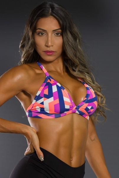 K2566-D_Top_Fitness_Estampado_Tracos_Azul_Marinho_Coral_e_Roxo__Ref:_K2566-D