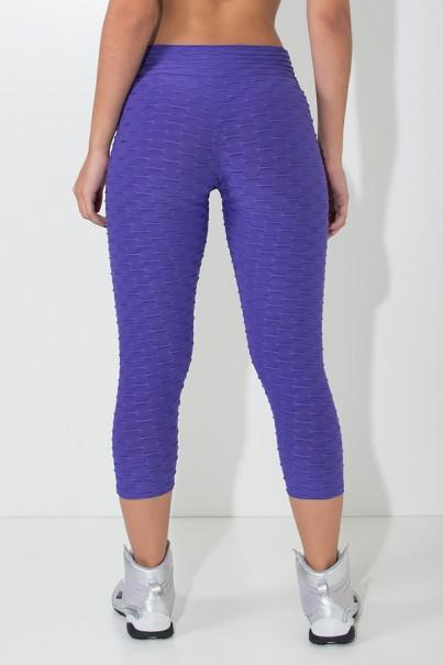Calça Corsário Tecido Bolha (Violeta) | Ref: KS-F105-015