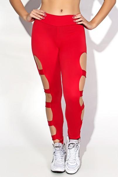 Calça Legging Rasgada (Vermelho) | Ref: KS-F98-001