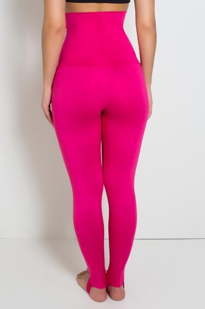 Calça Mirella Modeladora com Pezinho (Rosa Pink)   Ref: KS-F215-004