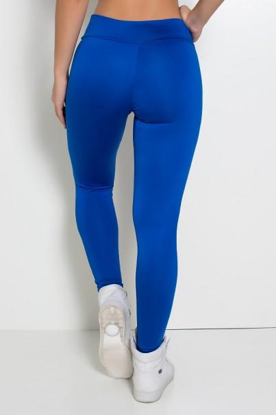 Calça Katherine com Bolso em Detalhe Dry Fit (Azul Royal / Branco) | Ref: KS-F690-007