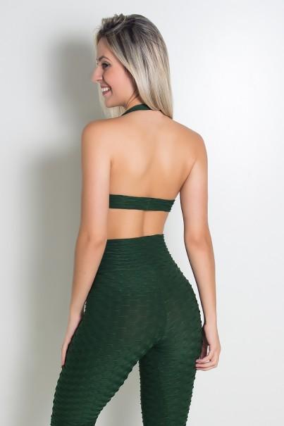 Top Tecido Bolha (Verde Escuro)   Ref: KS-F237-017