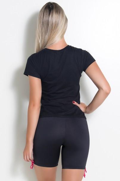 Camiseta Feminina Look Don t Touch (Preto) | KS-F235-001
