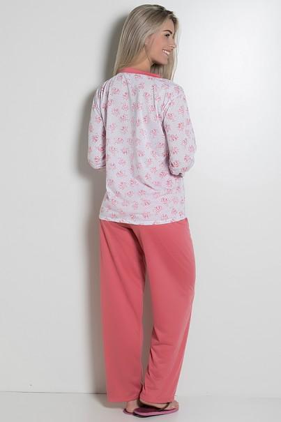 Pijama feminino longo 182 (Goiaba)