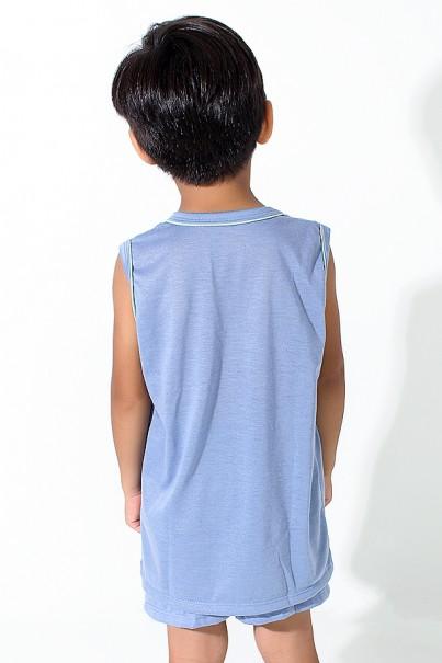 Pijama infantil Mas. Regata 142 (Azul Acinzentado) | Ref: CEZ-PA142-004
