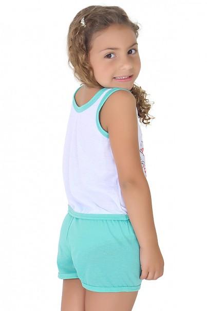 Babydoll Infantil 056 (Verde piscina) | Ref: CEZ-PA056-002
