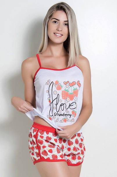 Babydoll Feminino 102 (Vermelho Morango) | Ref: CEZ-PA102-003
