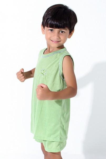 Pijama infantil Mas. Regata 142 (Verde Claro) | Ref: CEZ-PA142-005