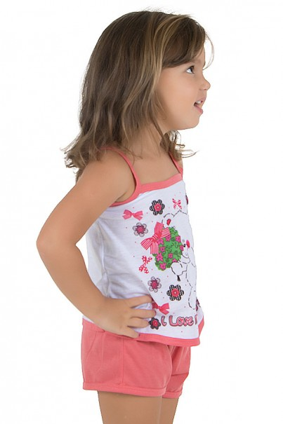 Baby-doll de Malha Infantil 035 (Goiaba)   Ref.: CEZ-PA035-003
