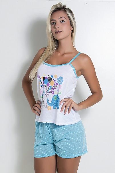 Babydoll Feminino 267 (Azul)