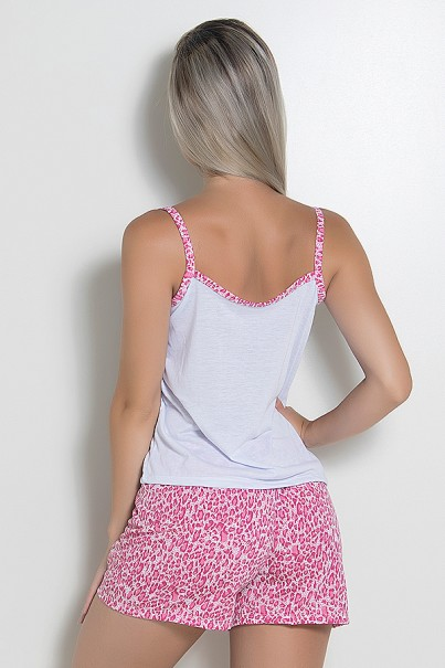 Babydoll Feminino 180 (Pink com gatinho) | Ref: CEZ-PA180-004