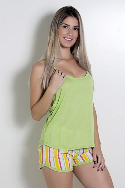 Babydoll Feminino 235 (Verde Listrado) AB