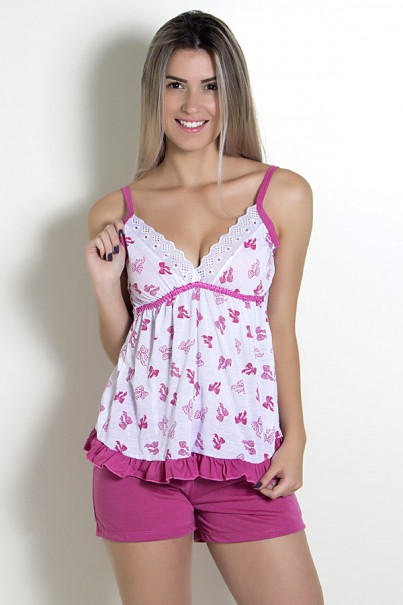 Babydoll Feminino 197 (Pink)