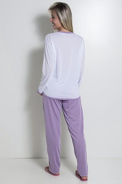 Pijama Feminino Longo 074 (Lilás)