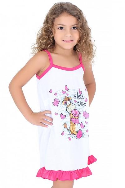 Camisola Infantil 141 (Pink com girafinha) | Ref: CEZ-CM010-003