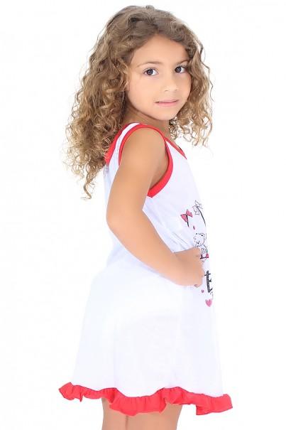 Camisola Infantil 060 (Vermelha com ursinho) Ref: CEZ-CM09-004