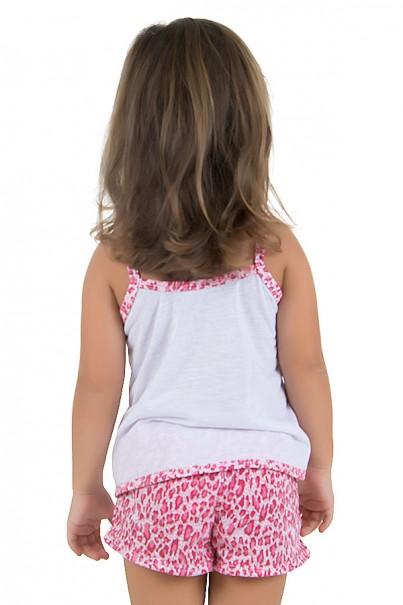 Baby-doll de malha Infantil 201 (Pink) | Ref.: CEZ-PA201-00