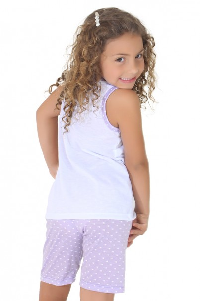 Pijama pescador infantil 275 (Lilás)   Ref: CEZ-PA275-001
