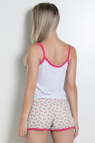Babydoll Feminino 102 (Pink Bicicleta)