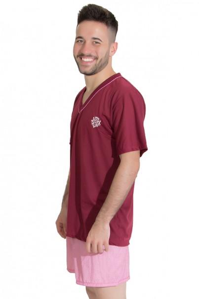 Pijama Masculino 071 (Vinho) | Ref: CEZ-PM02-001
