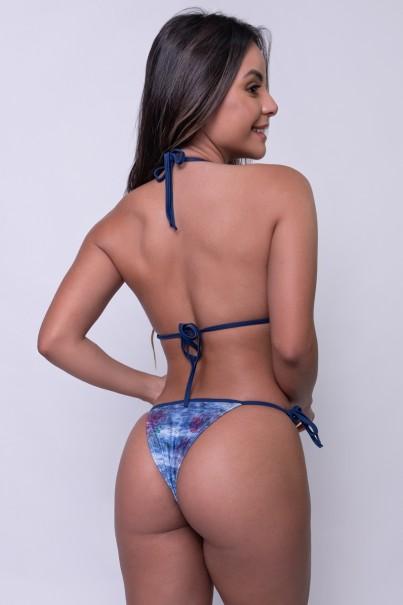 Biquini Jeans com Rosas Estampa Digital | Ref: KS-BQ94-001