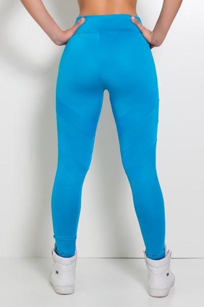 Legging Lisa com Listras Dry Fit (Azul Celeste) | Ref.: KS-F1274-002