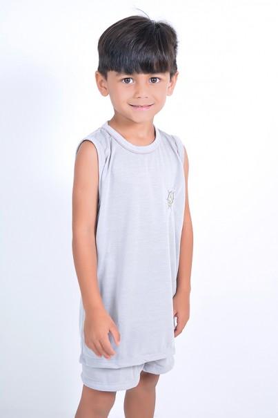 Pijama infantil mas. Regata 142 (Cinza) | Ref: CEZ-PA142-003