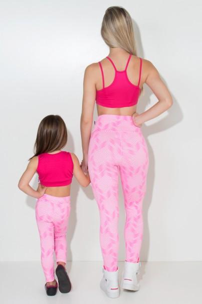 Kit com 5 (cinco) Leggings Infantis Estampadas com Costura Lateral (Cores Variadas) (G) | Ref: KS-KI04-003