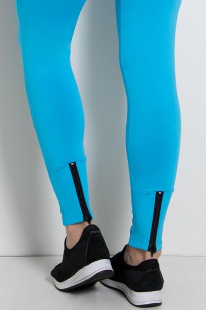 Calça Legging Lisa com Fecho na Perna (Azul Celeste)   Ref: KS-F157-004