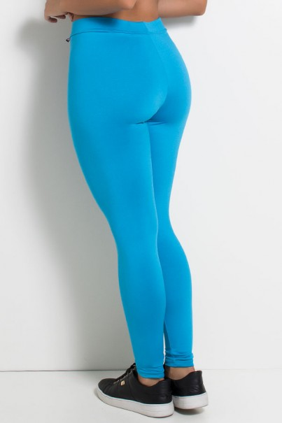 Calça Legging com Fecho na Frente (Azul Celeste) | Ref: KS-F170-003