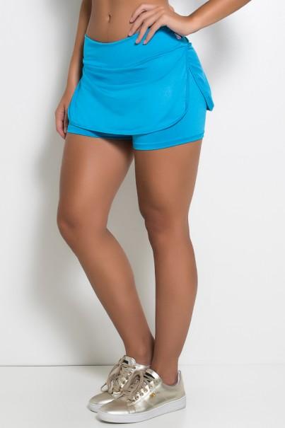 Short Saia Carla Liso (Azul Celeste) | Ref: KS-F174-003