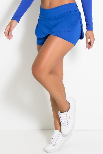 Short Saia Carla Liso (Azul Royal) | Ref: KS-F174-004