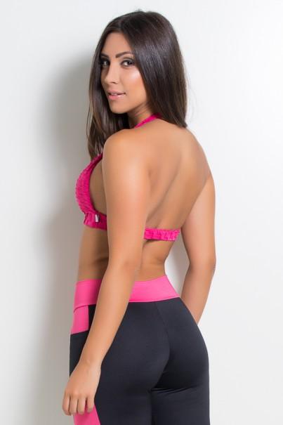 Top Tecido Bolha (Rosa Pink) | Ref: KS-F237-005