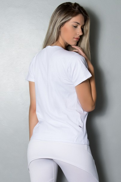 Camiseta Feminina (I Work Out) (Branco) | Ref.: KS-F238-002