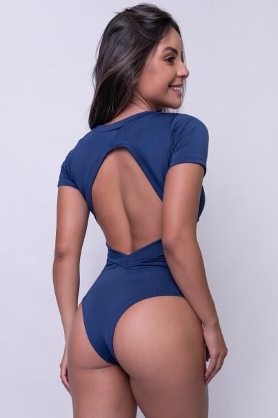 Body Liso Suzana (Azul Marinho)   Ref: F242-002