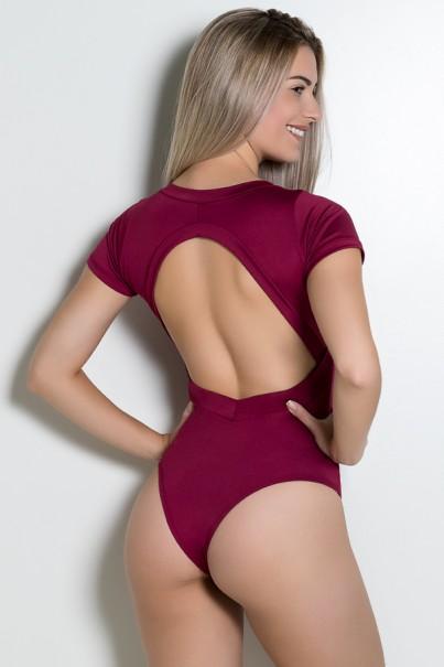 Body Liso Suzana (Vinho)   Ref: KS-F242-006
