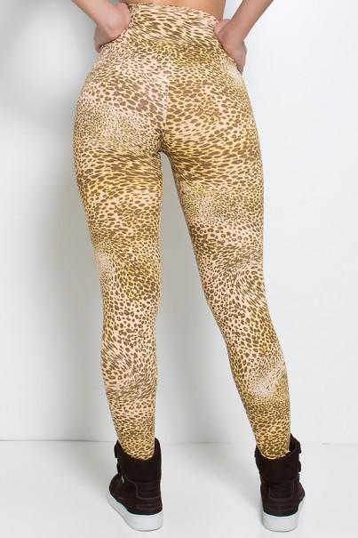 Legging Estampada (Oncinha Marrom Bege e Amarelo) | Ref: KS-F27-044