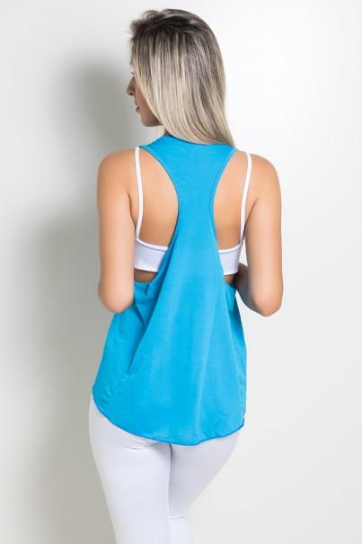 Camiseta Dry Fit com Bolso Marissol (Azul Celeste) | Ref: KS-F273-006