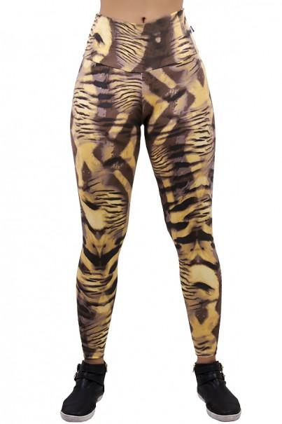 Legging Estampada Tigre Caramelo com Marrom