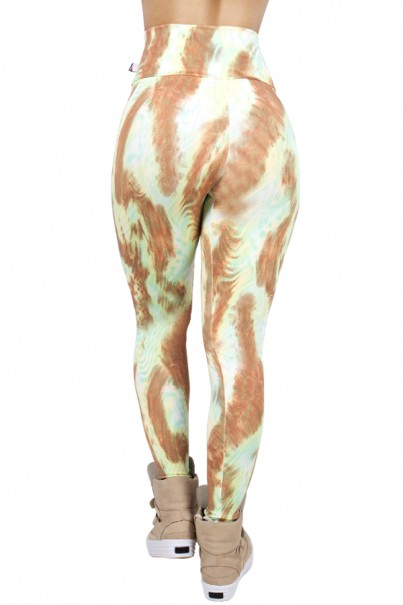 Legging Estampada Tigre Marrom e Verde Água | Ref: CA414