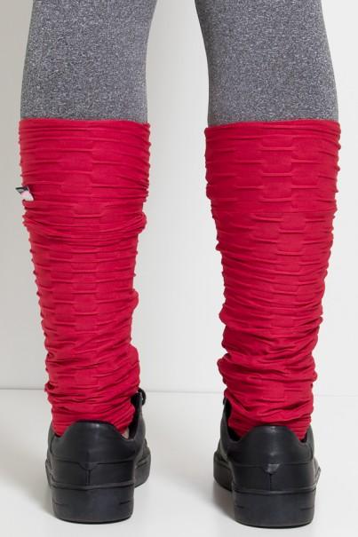 Polaina Tecido Bolha (Vermelho) | Ref: KS-F282-002