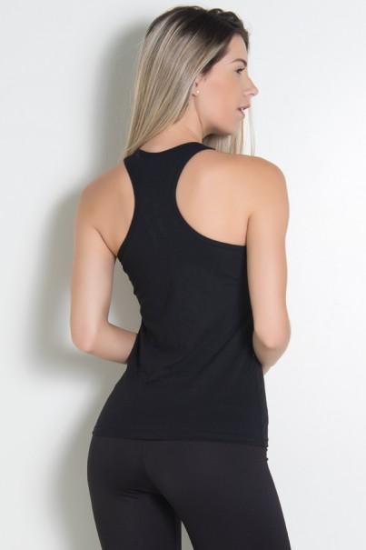 Camiseta de Malha Nadador (Look dont touch) (Preto) | Ref: KS-F321-001