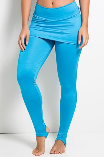 Legging com Tapa Bumbum e Pezinho (Azul Celeste) | Ref KS-F35-006