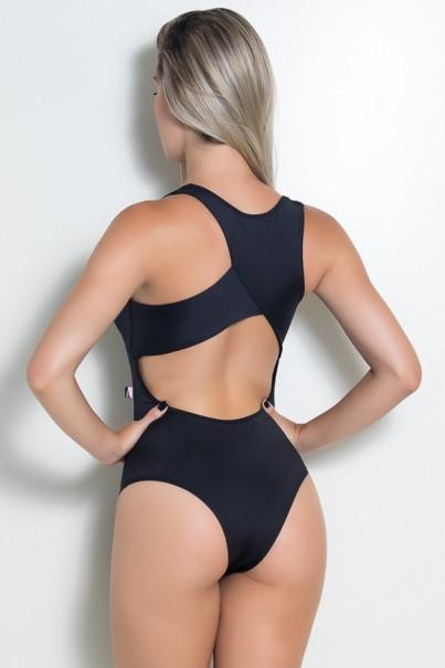 Body Viviane Liso (Preto) | Ref: KS-F427-003