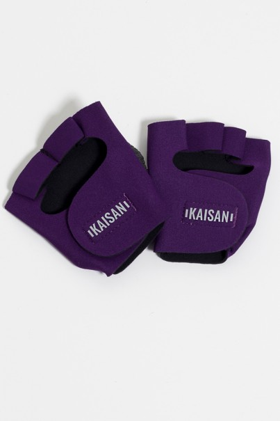 Luva para Academia Unissex (Roxo) | Neoprene | Logo Refletiva Kaisan | (O Par) | Ref: KS-F48-004