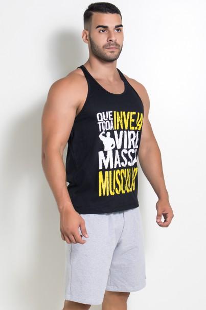 Camiseta Regata (Que Toda Inveja Vire Massa Muscular) (Preto) | Ref: KS-F520-002