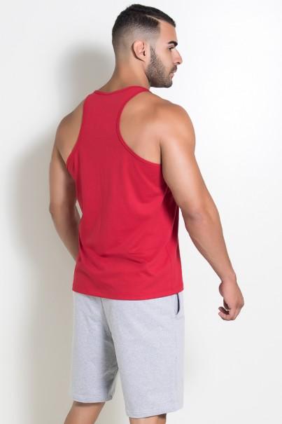 Camiseta Regata (Just Lift It) (Vermelho) | Ref: KS-F522-003