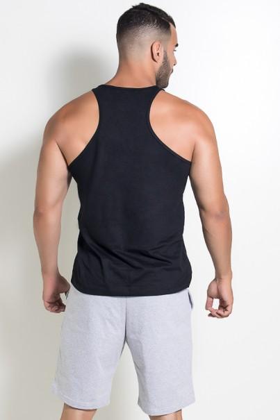 Camiseta Regata (Big Man) (Preto) | Ref: KS-F526-002